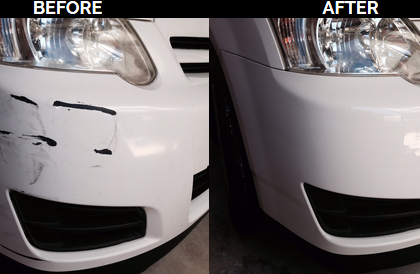 Scraped Bumper Repaired back to Factory Finish