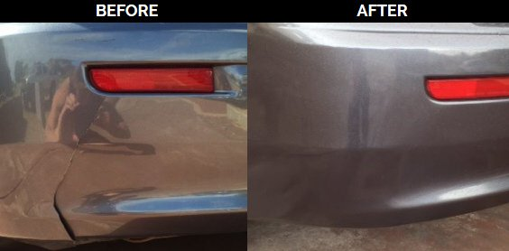 split bumper before and after repair
