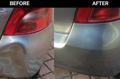 bumper pushin dent repaird