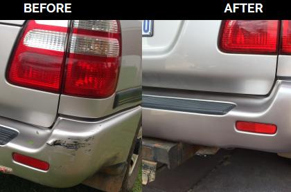 Scraped Landcruiser Bumper Gets Back Its Shine