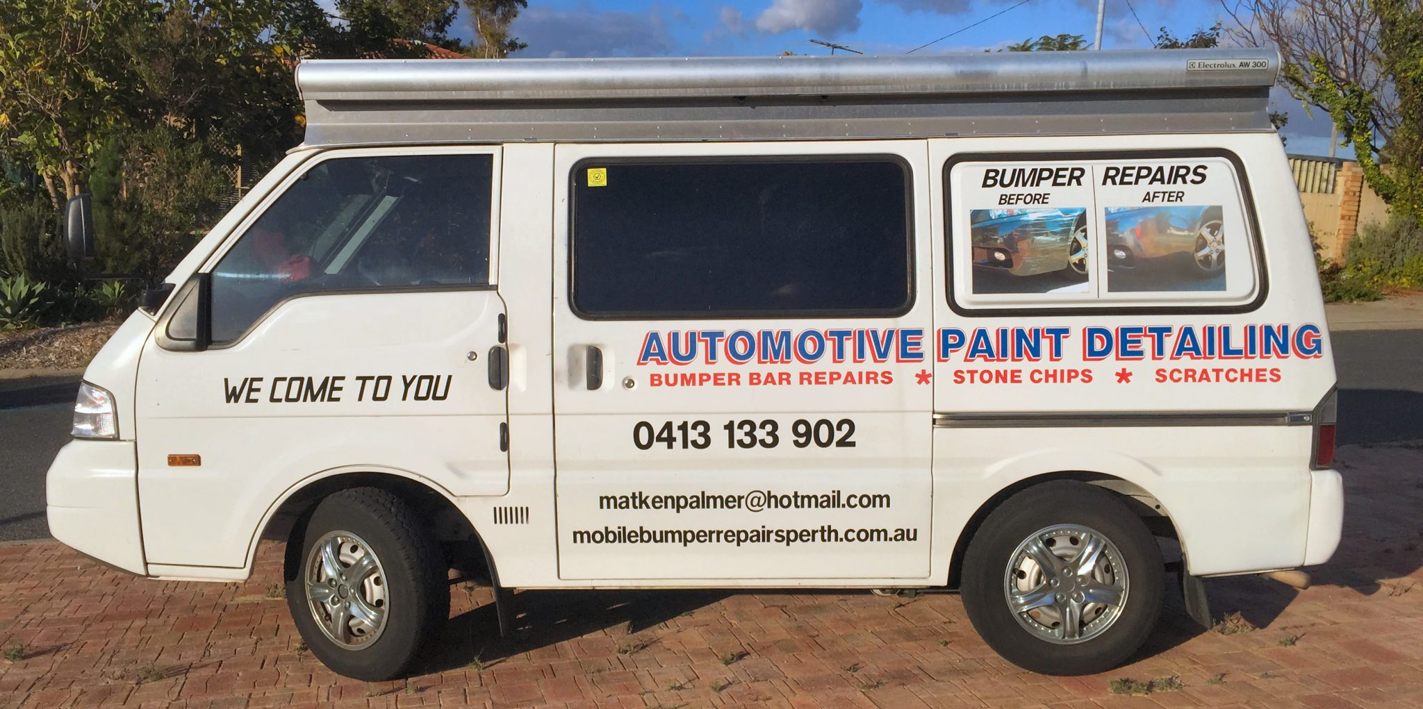 mobile bumper repairs van