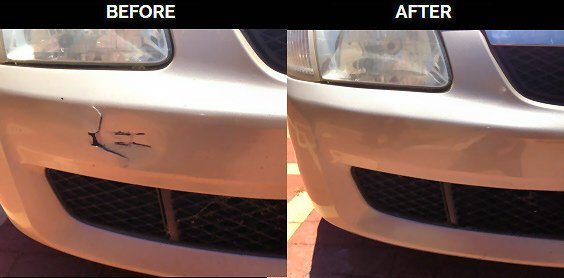 how to fix a cracked back bumper